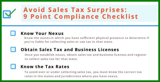 Avoid Sales Tax Surprises: 9 Point Compliance Checklist
