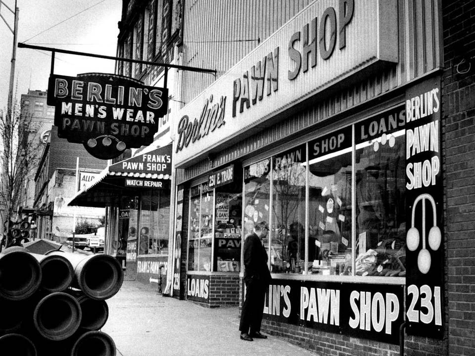 1972: Trade Street Pawn Shops