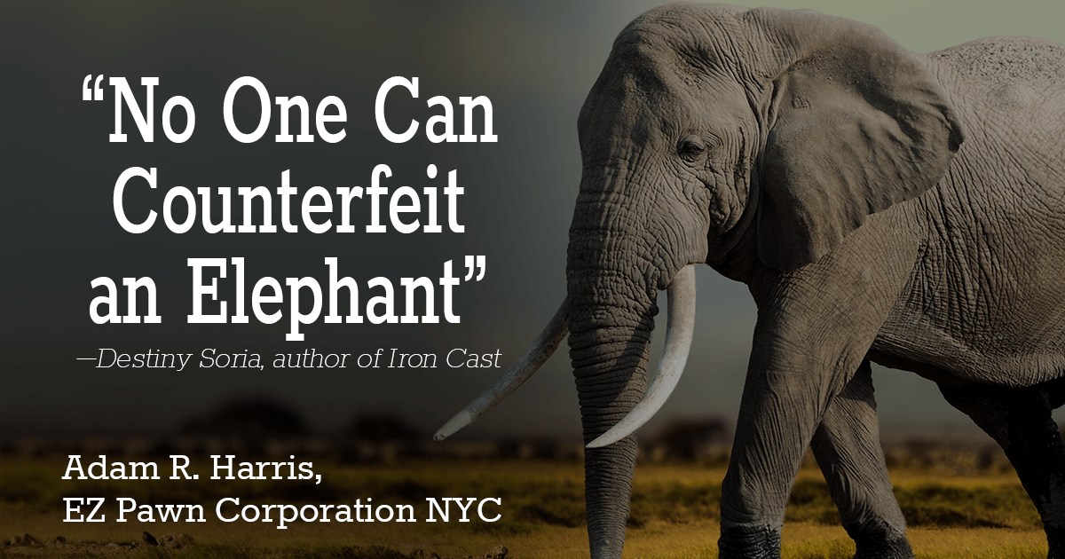 No One Can Counterfeit an Elephant